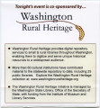 Washington Rural Heritage co-sponsors the opening reception of WALE 2012, Chelan, Washington,...