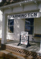 Farmington library branch promoting a digitizing event with a sign on their front porch ,...