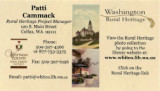 Business card of Patti Cammack, Whitman County, Washington, 2013