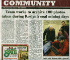 Team works to archive 100 photos taken during Roslyn's coal mining days, Roslyn, Kittitas County,...