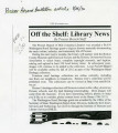 Off the shelf: library news [grant announcement from the Prosser Branch of Mid-Columbia...