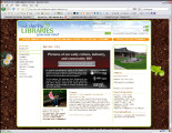 Benton City Library promoting Benton City Heritage on homepage, Benton County, Washington, 2009