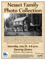 Nesset Family Photo Collection poster promoting presentation, Deming and South Fork Nooksack...