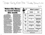 Waterville library to record history this month, Waterville, Washington, January 12, 2012
