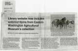 Library website now includes selected items from Eastern Washington Agricultural Museum's...