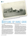 Rustling up some grub: a look at the women who cooked for threshing crews in the early 1900s,...